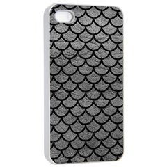 Scales1 Black Marble & Gray Leather (r) Apple Iphone 4/4s Seamless Case (white)