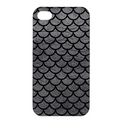 Scales1 Black Marble & Gray Leather (r) Apple Iphone 4/4s Hardshell Case