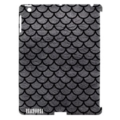 Scales1 Black Marble & Gray Leather (r) Apple Ipad 3/4 Hardshell Case (compatible With Smart Cover)
