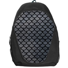 Scales1 Black Marble & Gray Leather (r) Backpack Bag