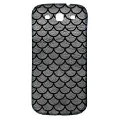 Scales1 Black Marble & Gray Leather (r) Samsung Galaxy S3 S Iii Classic Hardshell Back Case