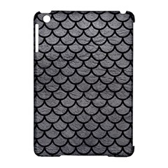 Scales1 Black Marble & Gray Leather (r) Apple Ipad Mini Hardshell Case (compatible With Smart Cover)