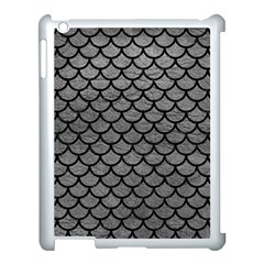 Scales1 Black Marble & Gray Leather (r) Apple Ipad 3/4 Case (white)