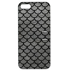 Scales1 Black Marble & Gray Leather (r) Apple Iphone 5 Hardshell Case With Stand