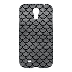 Scales1 Black Marble & Gray Leather (r) Samsung Galaxy S4 I9500/i9505 Hardshell Case
