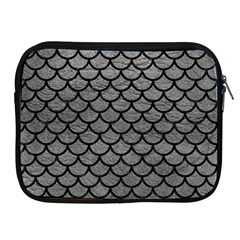 Scales1 Black Marble & Gray Leather (r) Apple Ipad 2/3/4 Zipper Cases