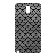 Scales1 Black Marble & Gray Leather (r) Samsung Galaxy Note 3 N9005 Hardshell Back Case
