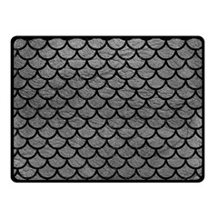 Scales1 Black Marble & Gray Leather (r) Double Sided Fleece Blanket (small)