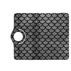 Scales1 Black Marble & Gray Leather (r) Kindle Fire Hdx 8 9  Flip 360 Case
