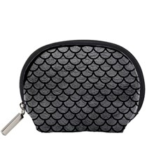 Scales1 Black Marble & Gray Leather (r) Accessory Pouches (small)