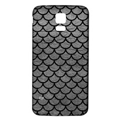 Scales1 Black Marble & Gray Leather (r) Samsung Galaxy S5 Back Case (white)