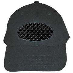 Scales2 Black Marble & Gray Leather Black Cap