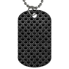 Scales2 Black Marble & Gray Leather Dog Tag (one Side)