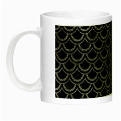 Scales2 Black Marble & Gray Leather Night Luminous Mugs