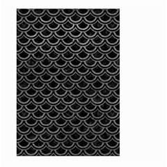 Scales2 Black Marble & Gray Leather Large Garden Flag (two Sides)