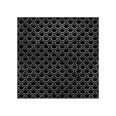 Scales2 Black Marble & Gray Leather Acrylic Tangram Puzzle (4  X 4 )