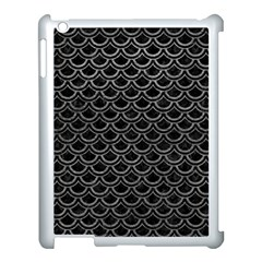 Scales2 Black Marble & Gray Leather Apple Ipad 3/4 Case (white)