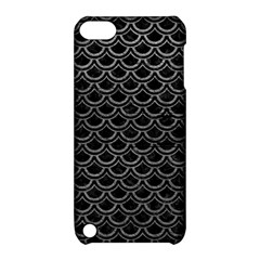 Scales2 Black Marble & Gray Leather Apple Ipod Touch 5 Hardshell Case With Stand