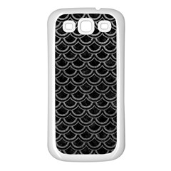 Scales2 Black Marble & Gray Leather Samsung Galaxy S3 Back Case (white)