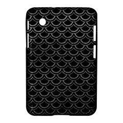 Scales2 Black Marble & Gray Leather Samsung Galaxy Tab 2 (7 ) P3100 Hardshell Case