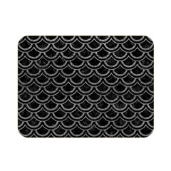 Scales2 Black Marble & Gray Leather Double Sided Flano Blanket (mini)