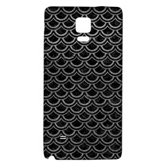 Scales2 Black Marble & Gray Leather Galaxy Note 4 Back Case