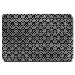 Scales2 Black Marble & Gray Leather (r) Large Doormat