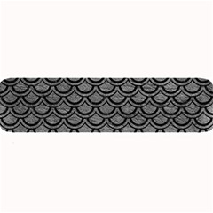 Scales2 Black Marble & Gray Leather (r) Large Bar Mats