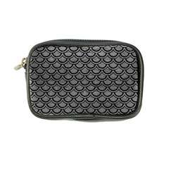 Scales2 Black Marble & Gray Leather (r) Coin Purse