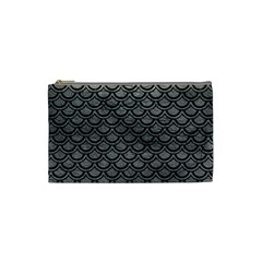 Scales2 Black Marble & Gray Leather (r) Cosmetic Bag (small)