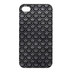 Scales2 Black Marble & Gray Leather (r) Apple Iphone 4/4s Hardshell Case