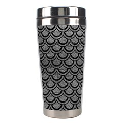 Scales2 Black Marble & Gray Leather (r) Stainless Steel Travel Tumblers