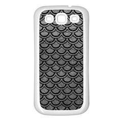 Scales2 Black Marble & Gray Leather (r) Samsung Galaxy S3 Back Case (white)