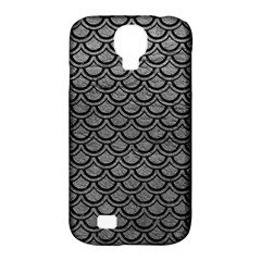 Scales2 Black Marble & Gray Leather (r) Samsung Galaxy S4 Classic Hardshell Case (pc+silicone)