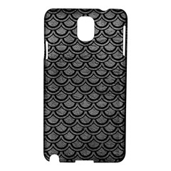 Scales2 Black Marble & Gray Leather (r) Samsung Galaxy Note 3 N9005 Hardshell Case