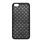SCALES2 BLACK MARBLE & GRAY LEATHER (R) Apple iPhone 5C Seamless Case (Black) Front