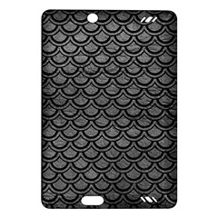 Scales2 Black Marble & Gray Leather (r) Amazon Kindle Fire Hd (2013) Hardshell Case