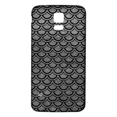 Scales2 Black Marble & Gray Leather (r) Samsung Galaxy S5 Back Case (white)