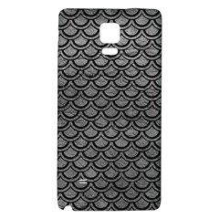 Scales2 Black Marble & Gray Leather (r) Galaxy Note 4 Back Case
