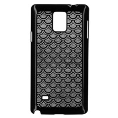 Scales2 Black Marble & Gray Leather (r) Samsung Galaxy Note 4 Case (black)