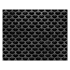Scales3 Black Marble & Gray Leather Rectangular Jigsaw Puzzl