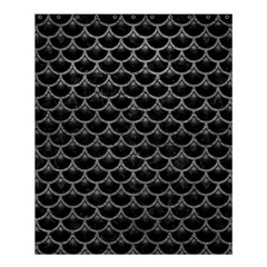 Scales3 Black Marble & Gray Leather Shower Curtain 60  X 72  (medium)