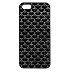 Scales3 Black Marble & Gray Leather Apple Iphone 5 Seamless Case (black)