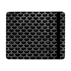 Scales3 Black Marble & Gray Leather Samsung Galaxy Tab Pro 8 4  Flip Case