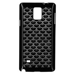 Scales3 Black Marble & Gray Leather Samsung Galaxy Note 4 Case (black)