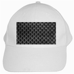 Scales3 Black Marble & Gray Leather (r) White Cap