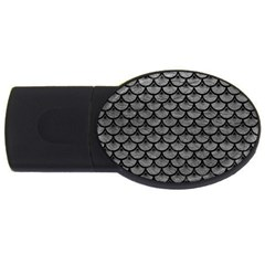 Scales3 Black Marble & Gray Leather (r) Usb Flash Drive Oval (2 Gb)