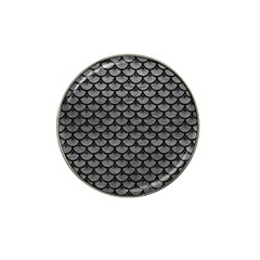 Scales3 Black Marble & Gray Leather (r) Hat Clip Ball Marker