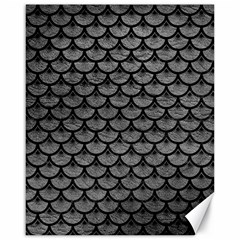 Scales3 Black Marble & Gray Leather (r) Canvas 16  X 20
