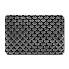Scales3 Black Marble & Gray Leather (r) Small Doormat